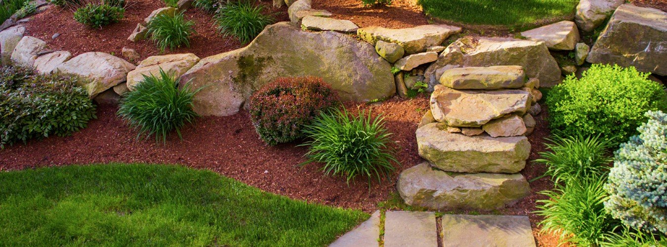 natural stone steps and walkway