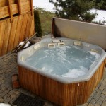 hot tub integration into patio design