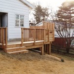 small wood deck